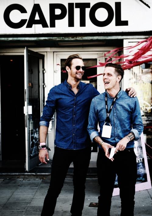 Alexander Skarsgård with Svante Tidholm, head of Way Out West Films.