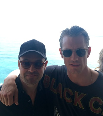Joel Kinnaman and David Dencik, Film i Väst's annual press lunch, Cannes 2018