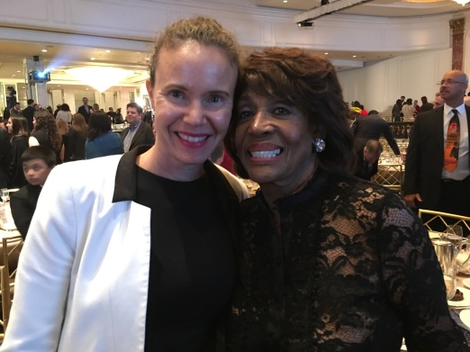 With Congresswoman Maxin Waters at the ACLU of SoCal's Bill of Rights Dinner, 2017.