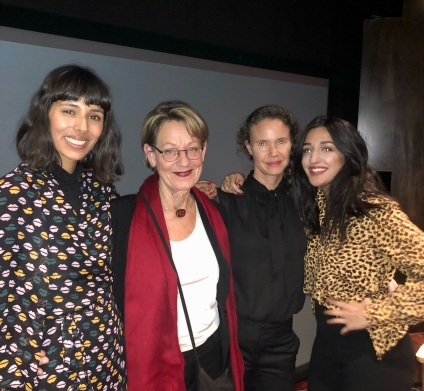 With Babba Canales, Gudrun Schyman and Parisa Amiri, at a screening of The Feminist at Spring Studios, NYC, 2018.