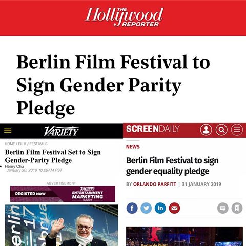 PR for the Berlinale's signing of a gender parity pledge.